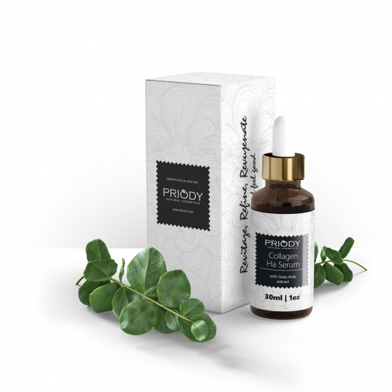 PRIODY | Kollagen + Hyaluronsäure-Serum mit Gotu Kola-Extrakt