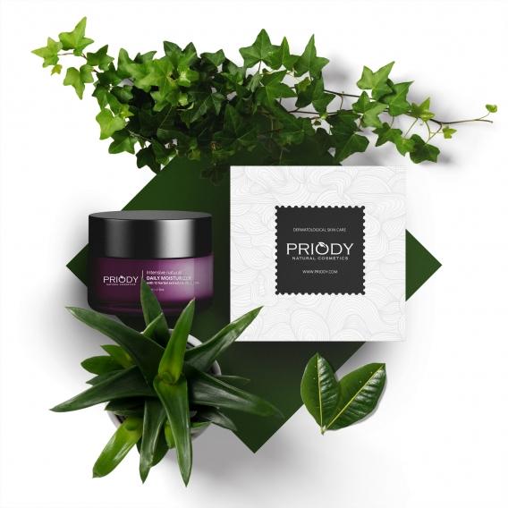 PRIODY | Intensive natürliche Feuchtigkeitscreme mit 12 Kräuterextrakten und Vitamin C 15%